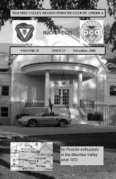 Volume 35 Issue 11, November 2008 - Maumee Valley - Porsche ...