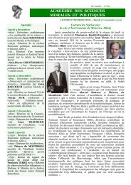 Mardi 27 novembre 2012 - Académie des sciences morales et ...