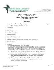 REGULAR BOARD MEETING Monday, June 25, 2012 at 7:00 p.m. ...