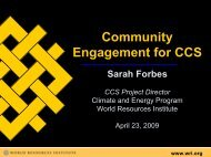 Community Engagement for CCS - World Resources Institute