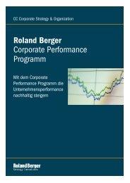 Corporate Performance Programm Roland Berger
