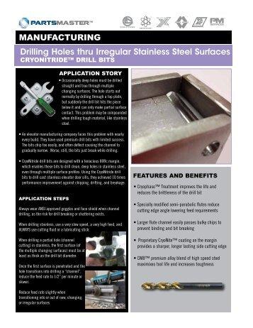 Drilling Holes thru Irregular Stainless Steel Surfaces ...