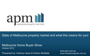 Melbourne Home Buyer Show State of Melbourne ... - Domain.com.au