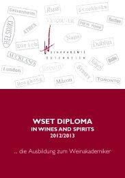 Diploma-Folder 2012/13 - Weinakademie Österreich