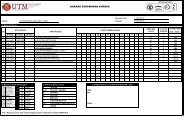 penawaran kursus sem. i, sesi 2013/2014 - sgh/ sgt ... - UTM SPACE