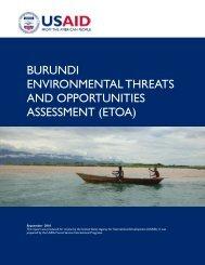 burundi environmental threats and opportunities assessment (etoa)
