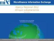 2012 Sub-Saharan Africa Regional Snapshot FR.pdf - Microfinance ...
