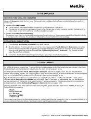 Metropolitan Life Insurance Company - South Carolina Public ...