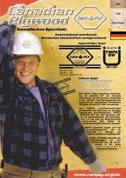 Kanadisches Sperrholz - Canadian Plywood Association