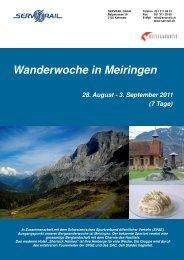 Wanderwoche in Meiringen - SERVRail