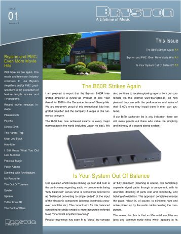 Volume 3, Issue 1 - Bryston