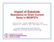 Impact of Substrate - Stanford Technology CAD Home Page ...
