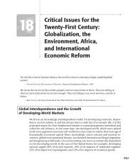 Critical Issues for the Twenty-First Century: Globalization, the ...