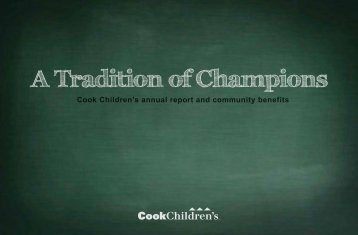 Cook Children's annual report and community benefits