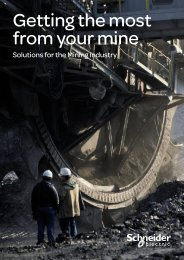 Mining Solution Brochure (pdf 6 Mb) - Schneider Electric
