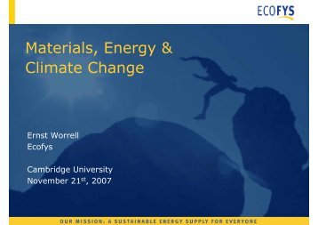 Materials, Energy & Climate Change - Low Carbon Materials ...