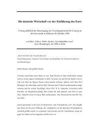 Die deutsche Wirtschaft vor der Einführung des Euro