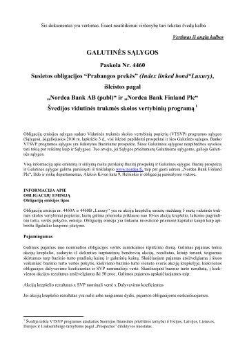 """Susietos obligacijos """"Prabangos prekės"""" - Nordea Bank Lietuva"""