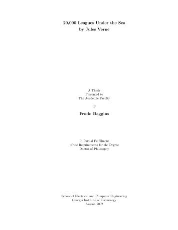 20,000 Leagues Under the Sea by Jules Verne Frodo Baggins