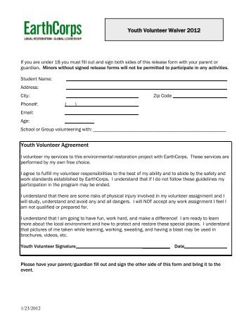 youth sign in sheet
