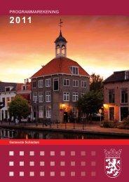 Programmarekening 2011 - Gemeente Schiedam