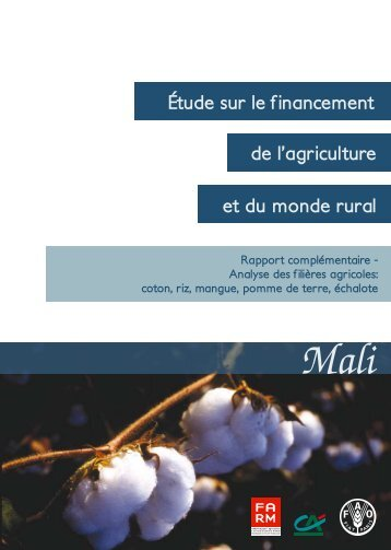 Analyse des filières agricoles - Fondation FARM