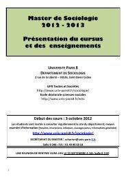 Brochure complète de présentation du master ... - Université Paris 8