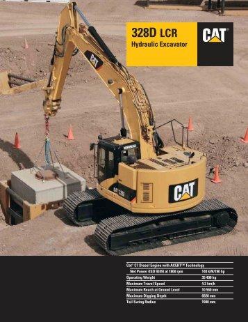 328D LCR Hydraulic Excavator - Teknoxgroup