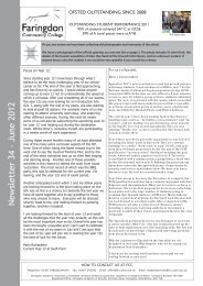 Newsletter 34 - June 2012 - Faringdon Community College