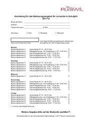 Provisorische Anmeldung für Betreuungsangebote ... - Schulen Ruswil