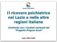 Presentazione di alcuni risultati nazionali del progetto