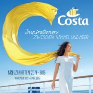 Costa Kreuzfahrten Teil 1 Prospekt 2014 - Basilisk Reisebüro