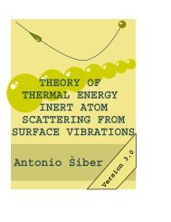 Theory of thermal energy inert atom scattering from surface vibrations