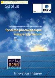Système photovoltaïque intégré à la toiture Innovation ... - TALEV