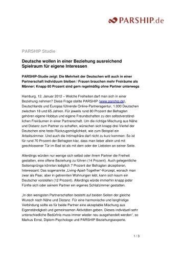 Deutsche wollen in einer Beziehung ausreichend Spielraum für ...
