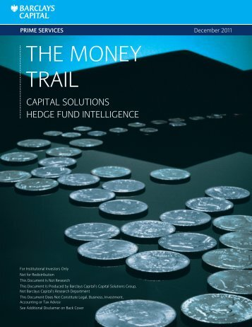 the money trail - Barclays Capital