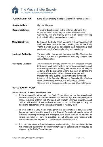 Job Description and Person Specification.pdf - Westminster Society ...