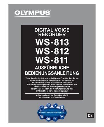 ausführliche bedienungsanleitung digital voice rekorder - Olympus