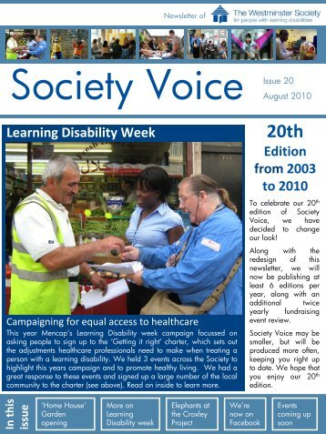 August 2010.pdf - Westminster Society for People with Learning ...