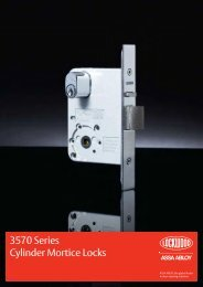 Lockwood 3570 Series Cylinder Mortice Locks ... - ASSA ABLOY