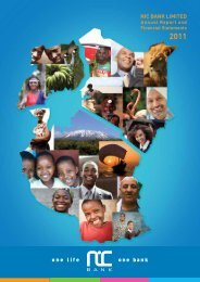 Financial Statements 2011 - Investing In Africa