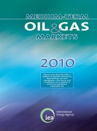 Medium-Term Oil and Gas Markets 2010 - IEA