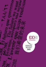 ANNUAL REPORT 2012 - Iddri