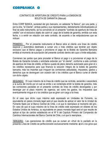 contrato apertura boletas gtia - Corpbanca