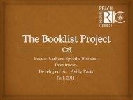 Dominican (2) Booklist by Ashly Paris for Grades K-5.pdf - RITELL