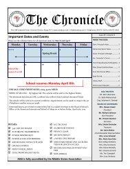 The Chronicle - American International School, Abuja