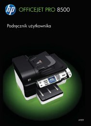 HP Officejet Pro 8500 Printer series User Guide ... - KomputerPc.pl