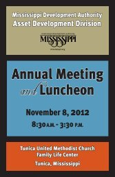Annual Meeting and Luncheon - Mississippi Development Authority