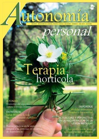 Portada del número 4 de la revista Autonomía Personal ... - Imserso