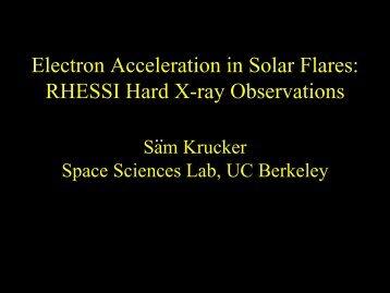 Electron Acceleration in Solar Flares - Yosemite 2010 Workshop on ...
